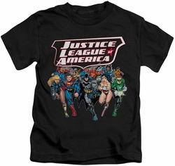 JLA kids t-shirt Charging Justice black