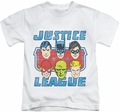 JLA kids t-shirt Faces Of Justice white