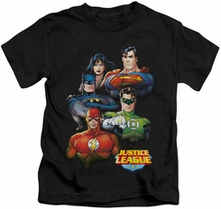 JLA kids t-shirt Group Portrait black