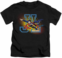 JLA kids t-shirt Heroes United black