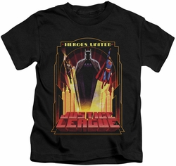 JLA kids t-shirt Heroes United Too black