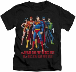 JLA kids t-shirt In League black