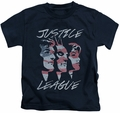 JLA kids t-shirt Justice For America navy