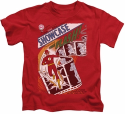 JLA kids t-shirt Showcase #4 Cover red
