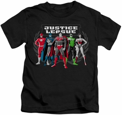 JLA kids t-shirt The Big Five black