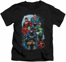 JLA kids t-shirt The Four black