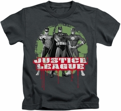 JLA kids t-shirt Trio charcoal