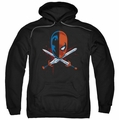 Deathstroke pull-over hoodie Crossed Swords adult black