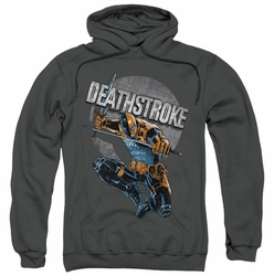 JLA pull-over hoodie Deathstroke Retro adult charcoal
