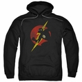 JLA pull-over hoodie Flash Symbol Knockout adult black
