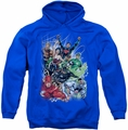 JLA pull-over hoodie Justice League #1 adult royal blue