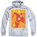 JLA pull-over hoodie Simple Flash Poster adult athletic heather