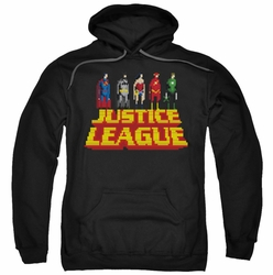 JLA pull-over hoodie Standing Above adult black