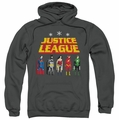 JLA pull-over hoodie Standing Below adult charcoal