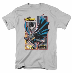 JLA t-shirt Batman Panels mens silver