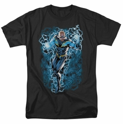 JLA t-shirt Black Lightning Bolts mens black
