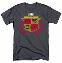 JLA t-shirt Defenders mens charcoal