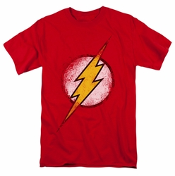 JLA t-shirt Destroyed Flash Logo mens red