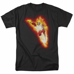JLA t-shirt Firestorm Blaze mens black