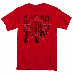 JLA t-shirt Five Stars mens red