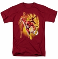JLA t-shirt Flash Collage mens cardinal