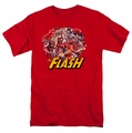 JLA t-shirt Flash Family mens red