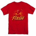 JLA t-shirt Flash Rough Distress mens red