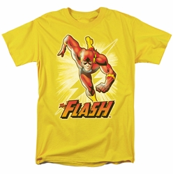JLA t-shirt Flash Yellow mens yellow