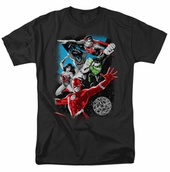 JLA t-shirt Galactic Attack mens black