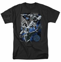 JLA t-shirt Galactic Attack Nebula mens black