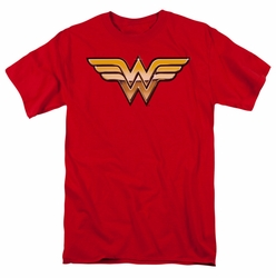 JLA t-shirt Golden Wonder Woman mens red