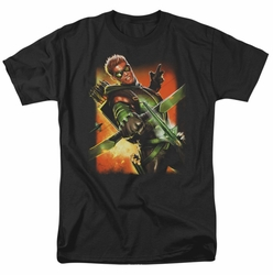 JLA t-shirt Green Arrow #1 mens black