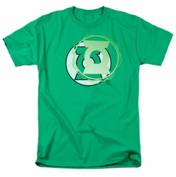 JLA t-shirt Green Lantern Energy Logo mens kelly green