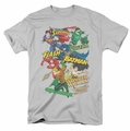 JLA t-shirt Justice Collage mens silver