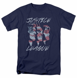JLA t-shirt Justice For America mens navy
