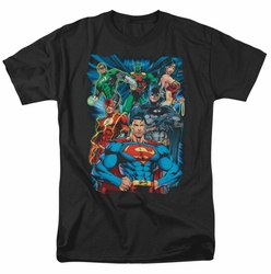 JLA t-shirt Justice Is Served mens black