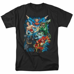 JLA t-shirt Justice League Assemble mens black