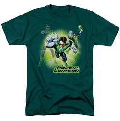 JLA t-shirt Lantern Burst mens hunter green