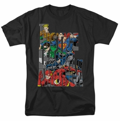 JLA t-shirt Lettered League mens black