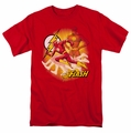 JLA t-shirt Flash Lightning Fast mens red