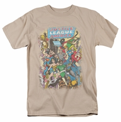 JLA t-shirt Most Important Man mens sand