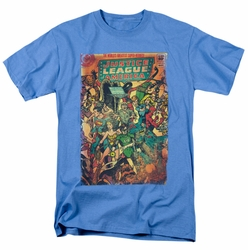 JLA t-shirt No 212 Vintage mens carolina blue
