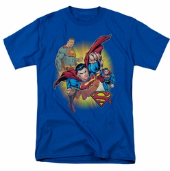 JLA t-shirt Superman Collage mens royal