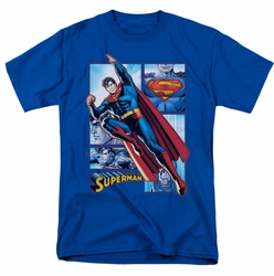 JLA t-shirt Superman Panels mens royal