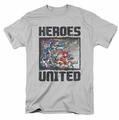 JLA t-shirt The Charge mens silver