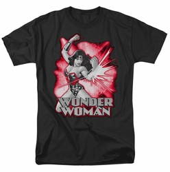 JLA t-shirt Wonder Woman Red & Gray mens black