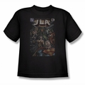 Justice League youth teen t-shirt #1 Cover black