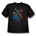 Justice League youth teen t-shirt Action Stars black