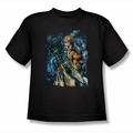 JLA youth teen t-shirt Aquaman #1 black