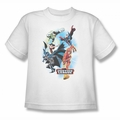 JLA youth teen t-shirt At Your Service white